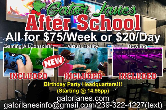 Gator Lanes after school program
