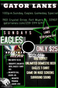 Philadelphia Eagles fan club specials fort myers fl